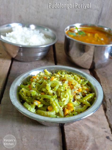 Pudalangai poriyal   Vegetarian sides   Ranjani's Kitchen