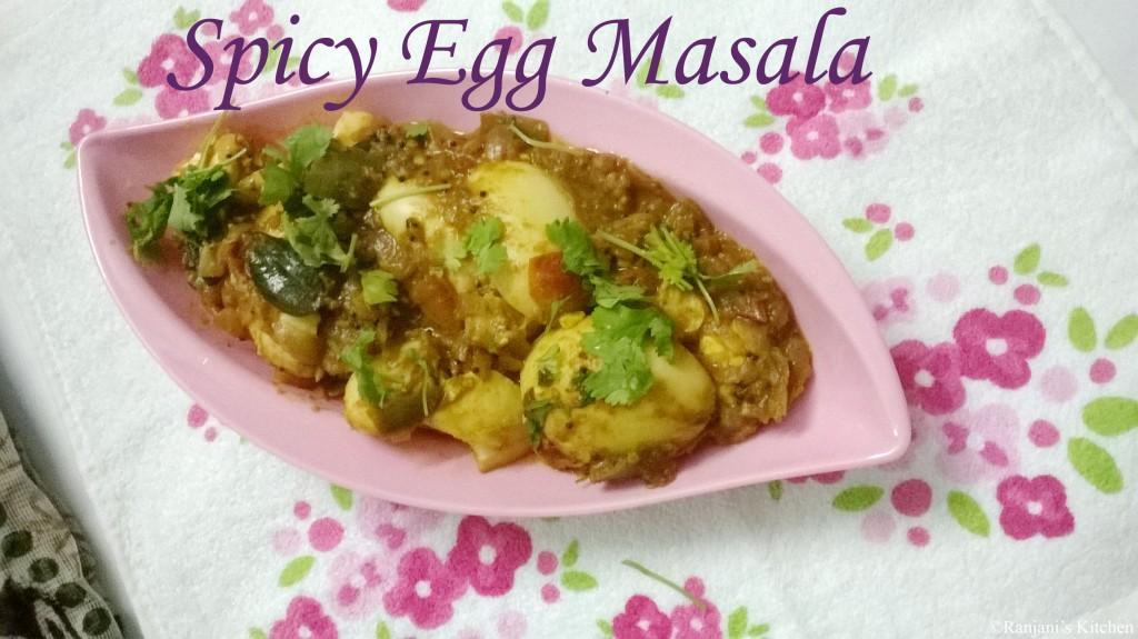 Spicy egg Masala