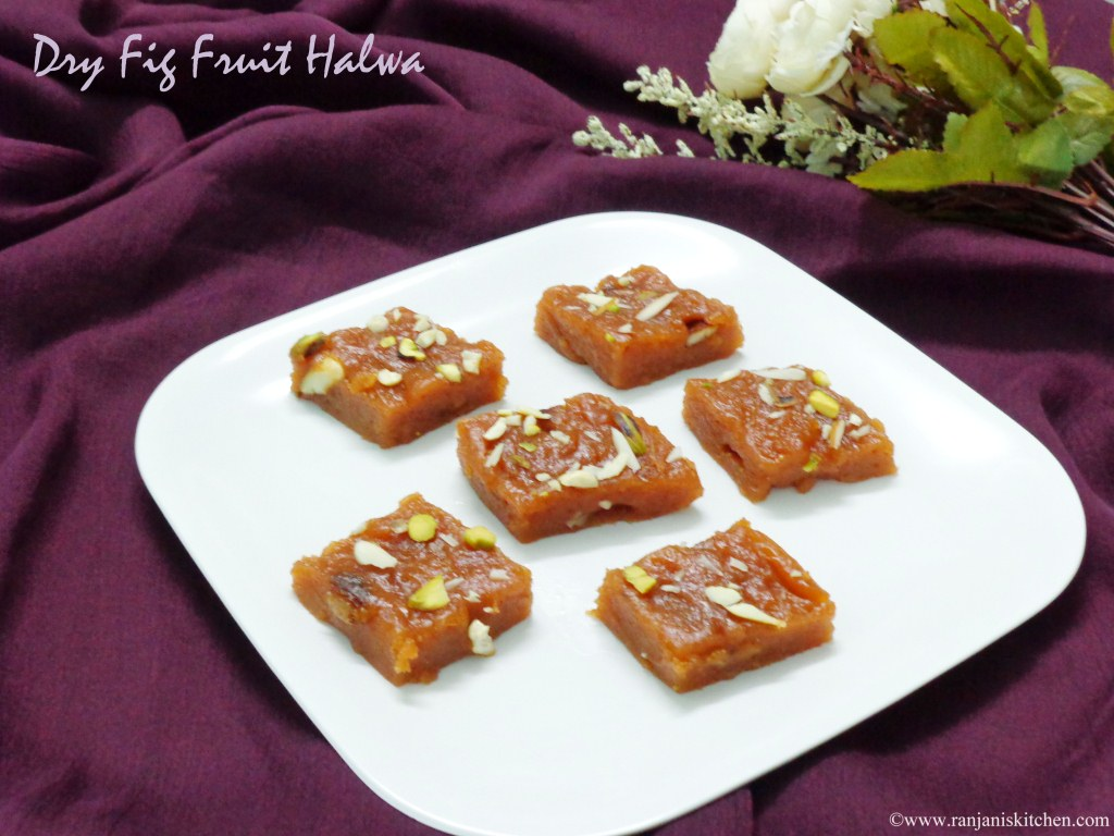 Dry Fig Fruit Halwa