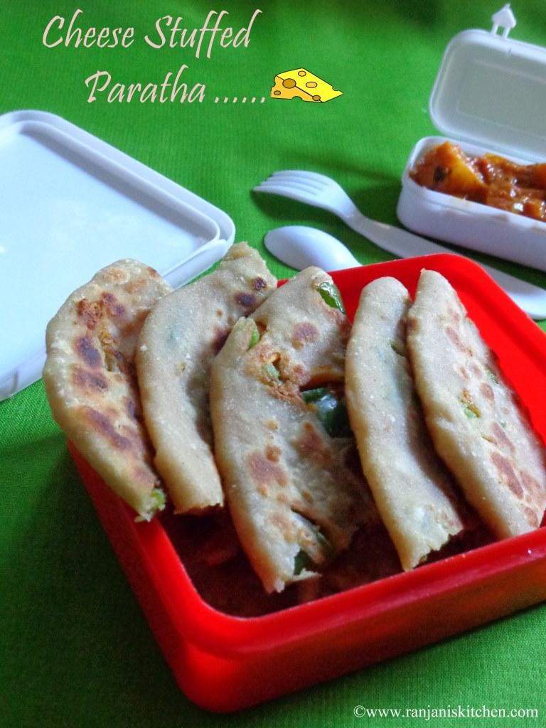 Veg Cheese Stuffed Paratha