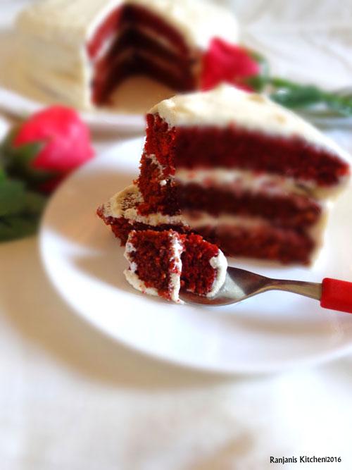 Red Velvet Cake Natural Color Coloring
