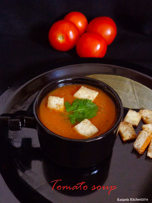 tomato soup recipe how to make tomato soup recipe ranjani 39 s kitchen. Black Bedroom Furniture Sets. Home Design Ideas