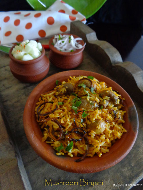 how-to-make-mushroom-biryani