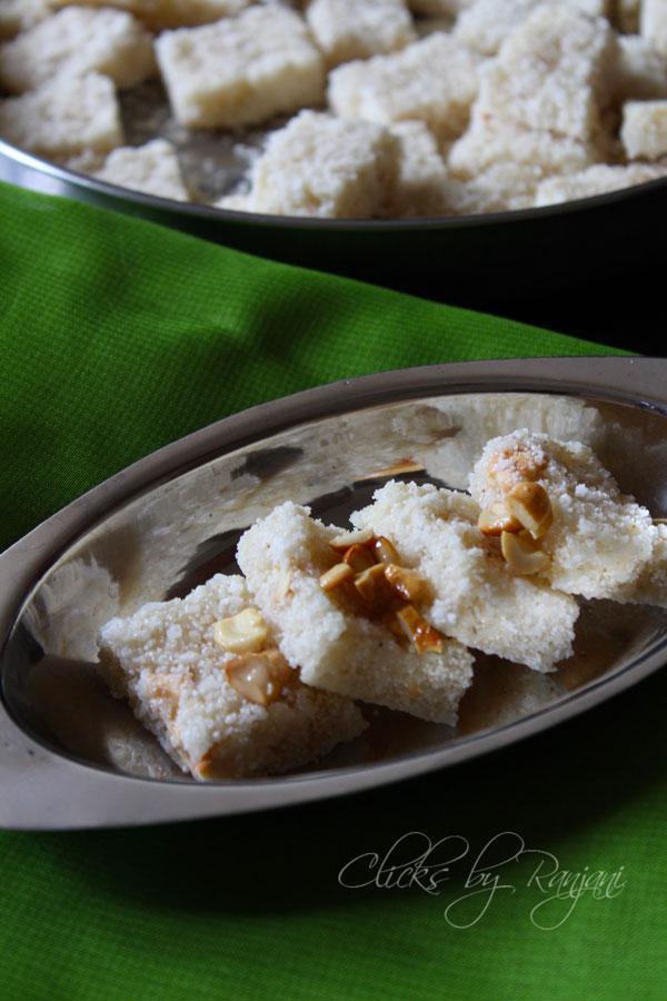 rava-coconut-burfi-recipe